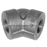 Geschmiedeter Stahlhochdruck Threaded/Sw 45 Grad-Winkelstücke