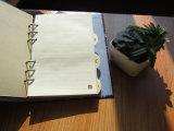 Cahier chinois fait sur commande de feuilles mobiles de livre À couverture dure (XLH32120-X02)