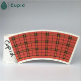 Hztl a imprimé le ventilateur imprimé enduit par PE de papier de tasse de papier de tasse/le ventilateur tasse de papier