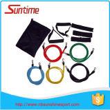 Les bandes de résistance réglées, résistance réunit le kit, les bandes de résistance d'exercice de forme physique, les bandes d'exercice pour l'exercice, bandes de tube de latex pour la forme physique de séance d'entraînement