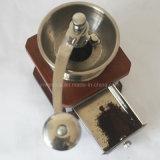 ステンレス鋼の調節可能な陶磁器のぎざぎざが付いている手動貴重品箱の粉砕機