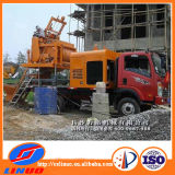 Forced Concrete Mixer를 가진 V-8 Concrete Pump Truck