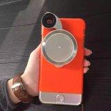 Lujo 4 en 1 caja de la lente de cámara TPU+PC para iPhone6