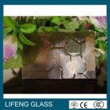 Vidro modelado geado da chuva bambu desobstruído