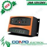 20A, 12V/24V, USB, diodo emissor de luz, controlador solar de PWM
