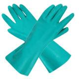 Перчатки нитрила зеленого цвета домашней деятельности