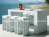 Outdoor Rattan Rattan Garden Modern Patio Dining Bar Table Set