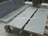 Escalier en granit intérieur poli gris G603