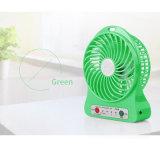 Ventilateur portatif électrique micro de bureau rechargeable de la vente 2016 chaude mini