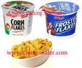 Corn Flakes Copa llenado y sellado de la máquina