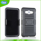 Nouveau sur le marché PC TPU Combo Case, Buckle Ring Kickstand Cell Phone Case