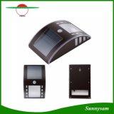 태양 강화된 움직임 PIR 운동 측정기 안전 벽 플러드 경로 빛 2 LED 전구 옥외 야드 경로 지붕 벽 램프 정원 은 검정