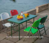 China Supplier Outdoor Portable 4ft Colored Small Plastic Folding zur Hälfte Table für Picnic/Catering/Camping/Leisure/Game