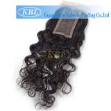 100% Natural Hair Hair Womens Toupee Closure 4 * 4