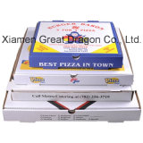 Rectángulo acanalado de la pizza de Kraft del calibrador fino euro del estilo (PB160621)
