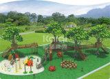 Campo de jogos ao ar livre de madeira do grande tamanho de Kaiqi para o parque de comunidade