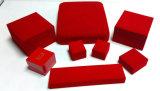 빨간 플라스틱 보석 고정되는 상자