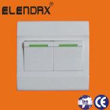 Переключатель стены 3 шатий односторонний белый электрический с индикатором Fruorescent