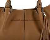 La borsa di cuoio alla moda del Tan di ultimo modo