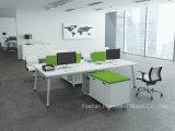 تصميم تضمينيّة لون أبيض [ل] شكل مكتب 6 شخص مكتب مركز عمل ([هف-زك10])