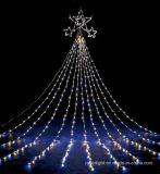 Bunte im Freienled-Wasserfall-Licht-Weihnachtsfeiertags-Straßen-Dekoration
