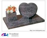 De Amerikaanse Grafsteen van het Graniet van de Aard van de Stijl Enige Hart Gevormde Snijdende