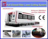 1000W láser de fibra Máquina de corte con cubierta protectora