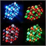 단계를 위한 36PCS 크리 사람 LED 세척 Colorchangine 이동하는 맨 위 빛