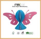 Sombrero de papel plegable de los colores mezclados con dimensión de una variable de la mariposa