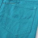 子供の衣服の女の子のズボンのズボンに着せている青緑色の子供