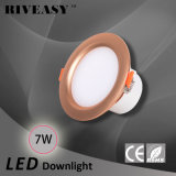 7W iluminación de oro del proyector del programa piloto integrado LED Downlight de 3.5 pulgadas