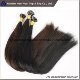 Extensões Pre-Ligadas brasileiras do cabelo do cabelo humano da ponta lisa