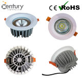 15W AluminiumDimmable CREE-PFEILER LED Downlight Nullweiß