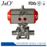 Válvula de esfera pneumática higiênica da solda de extremidade 3PCS