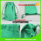 Modische grüne Gut-Baumwolldrawstring-Beutel-Beutel 100% für das Kaffee-Verpacken