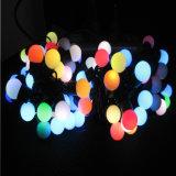 Esfera da luz da corda do diodo emissor de luz da iluminação do feriado do Natal com multi cores