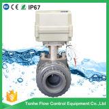 """2가지의 방법 소형 1개의 1/2 """" 인치에 의하여 자동화되는 PVC 벨브 전기 액추에이터 물 공 벨브"""