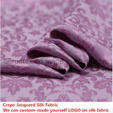 soie de jacquard de Crepe de largeur de 114cm pour le tissu en soie de couette
