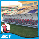 Portable de luxe Team Shelter/Substitute Bench com Wheels From Act Sports