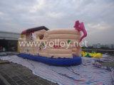 Stationnement sautant plein d'entrain de château d'amusement gonflable