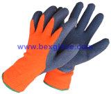 Вкладыш 7 датчиков акриловый, экстренное толщиное почищенное щеткой Терри связанное &, покрытие латекса, полное покрытие большого пальца руки, перчатки безопасности