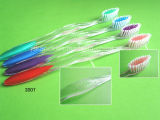 Cepillo de dientes transparente del adulto de la maneta del mercado de la India