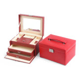 Girls를 위한 PU Makeup Case Women Leather Cosmetic Box Jewelry Case