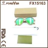 Vendas por atacado dos óculos de sol de madeira polarizados 400ce UV da alta qualidade nova do projeto
