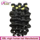 Cabelo frouxo indiano da onda de Xbl da onda popular do cabelo do Virgin