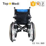 Fauteuil roulant électrique TM-Ew-015n de pouvoir détachable pliable de roue de fourche de Topmedi cinq