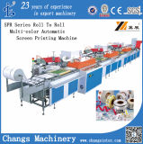 Roll-to-roll machine d'impression écran Multi-couleur automatique (SPR)