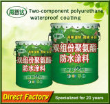 Enduit imperméable à l'eau de pulvérisation de double polyuréthane à base d'eau en caoutchouc liquide constitutif