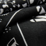 Arbeitsweg-Begleiter-grauer Voile-Elefant gedruckter Schal