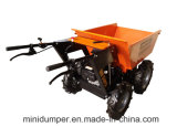 KtMd300c Palm Plantation 4 Wheel Wheelbarrow Mini Dumper Chain Drive 4X4